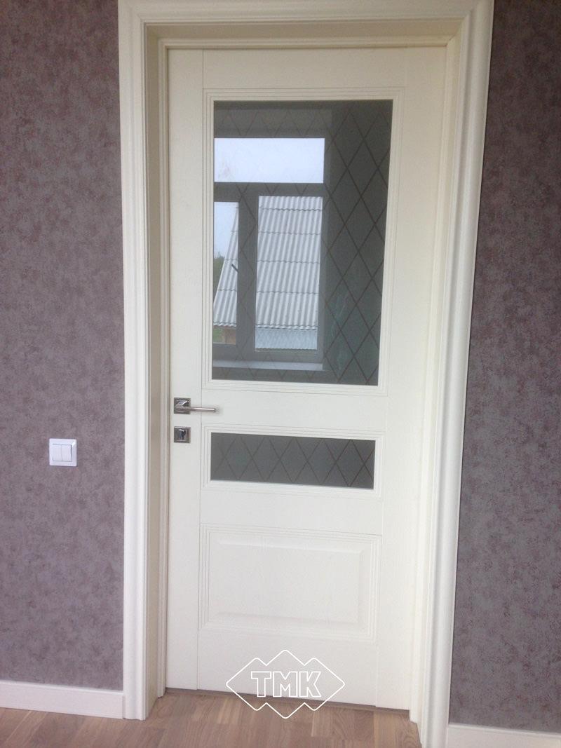 Шпонированные двери: отделка шпон ясеня