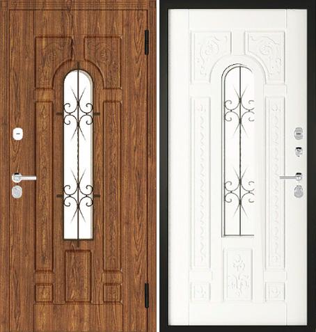 Входная дверь Цезарь - 24 (Дуб Золотой + патина) Vinorit / ПВХ: цены, характеристики, фото