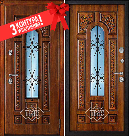 Входная дверь Цезарь - 24 (Дуб Золотой + патина) Vinorit / Vinorit: цены, характеристики, фото
