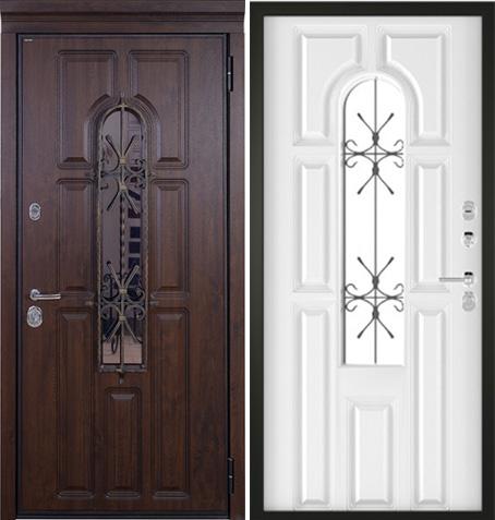 Входная дверь РИМ - Термо (Vinorit Тёмный Дуб +патина / Белый): цены, характеристики, фото
