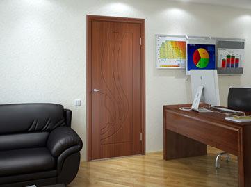 Межкомнатная ульяновская дверь Техно 1 остекленная цвет